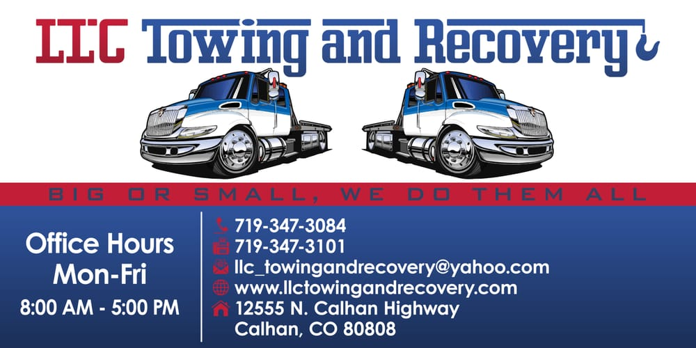 LLC Towing & Recovery: 12555 N Calhan Hwy, Calhan, CO