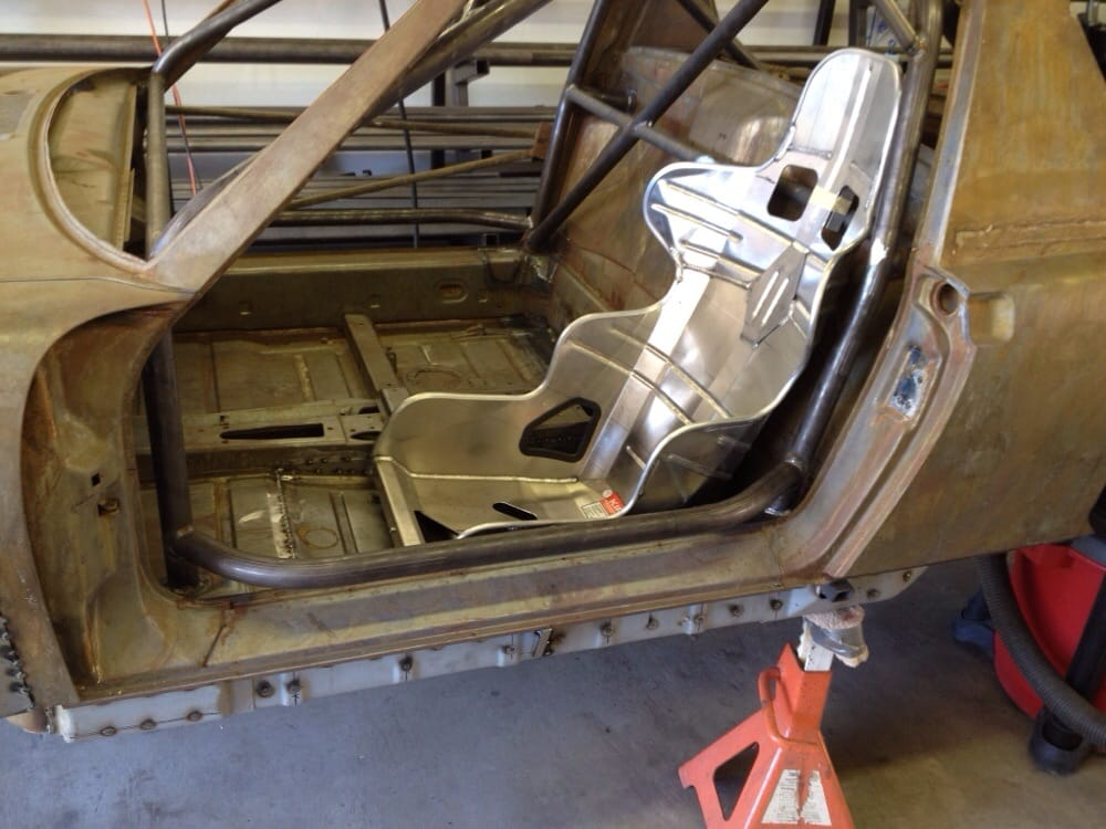 Porsche 914 Road race car cage and seat mount. - Yelp