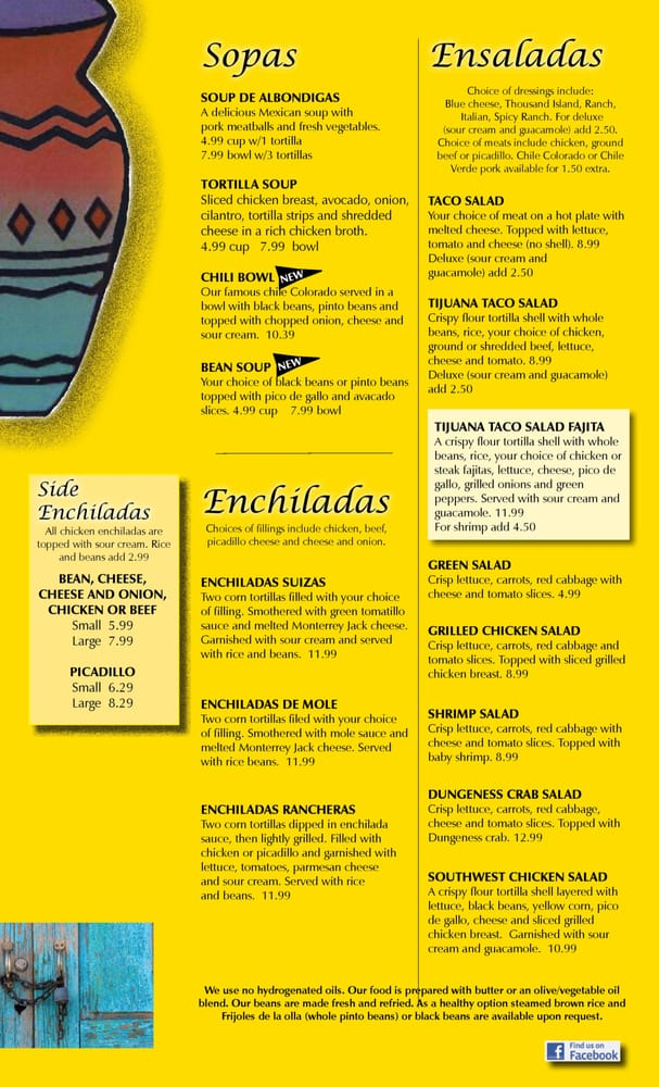 ana s mexican restaurant togo menu yelp