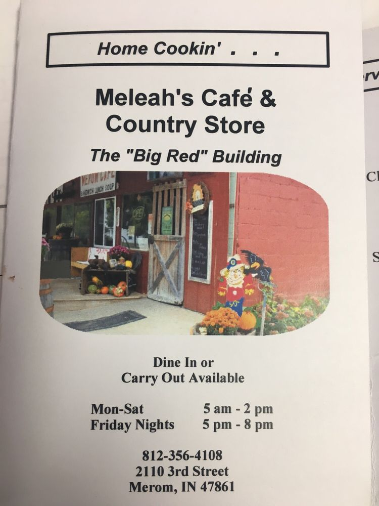 Meleah's Cafe And Country Store: 2110 S 3rd St, Merom, IN