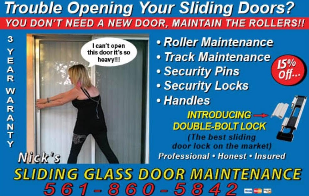 Nick S Sliding Glass Door Maintenance 10 Reviews Installation Lake Worth Fl Phone Number Yelp