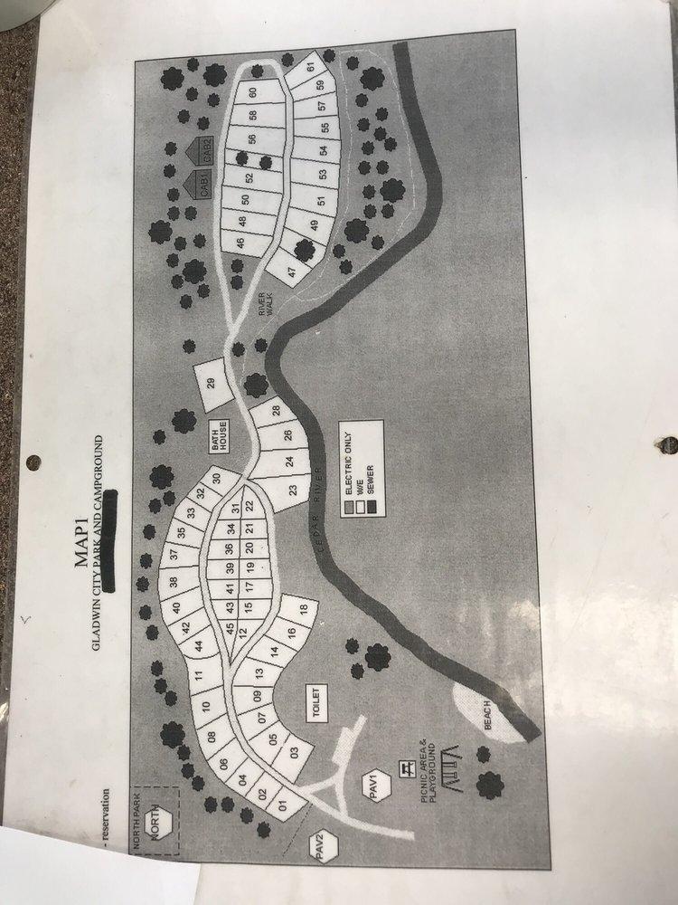 Gladwin City Park and Campground: 240 S City Park St, Gladwin, MI