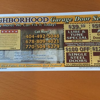 Good Photo Of Neighborhood Garage Door Services   Atlanta, GA, United States.  False Advertising