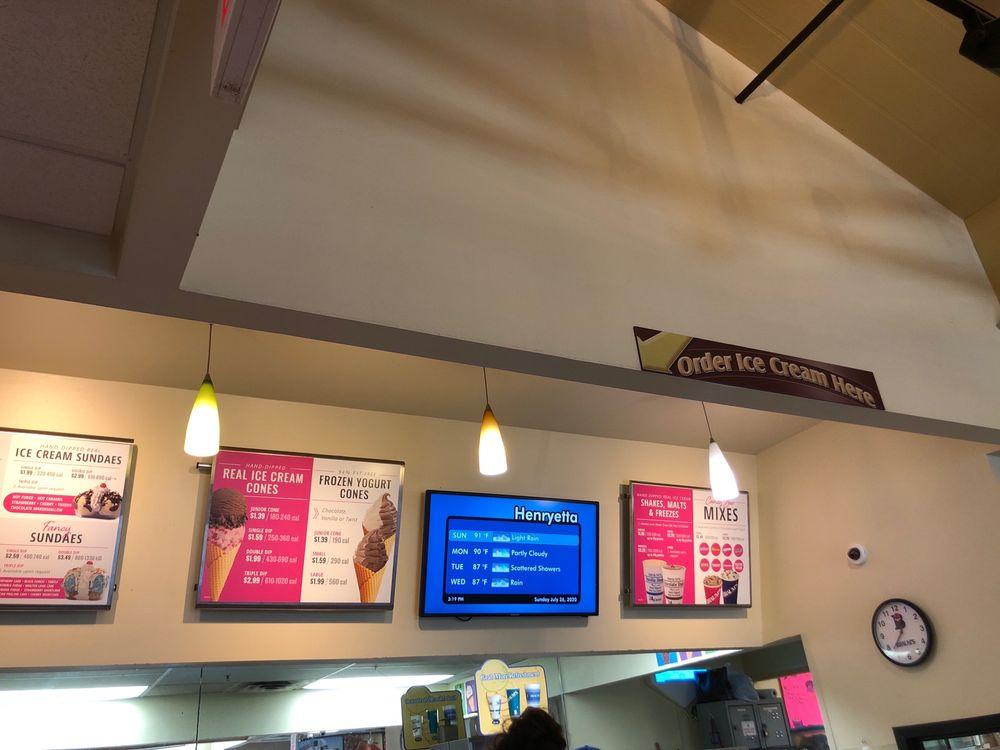 Braum's Ice Cream & Dairy Stores: 105 E Main St, Henryetta, OK