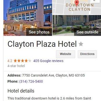 Photo Of Clayton Plaza Hotel Mo United States Definitely Not A