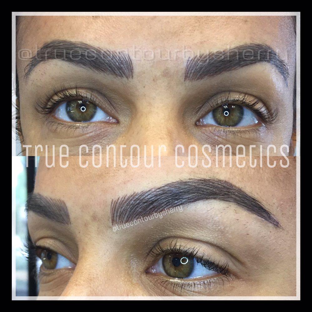 Microblading 3d Hair Strokes Semipermanent Eyebrow Tattoo San Diego