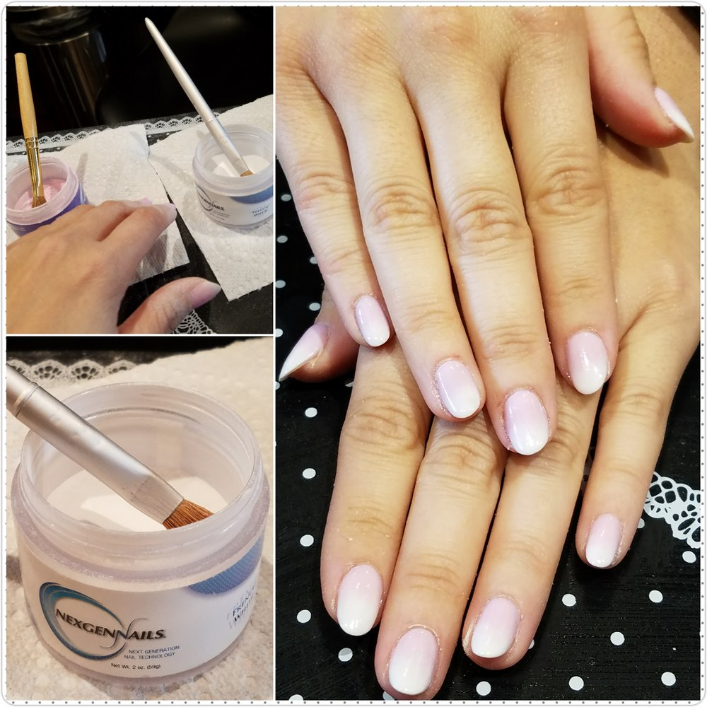 Ombré French manicure using gel powder - Yelp