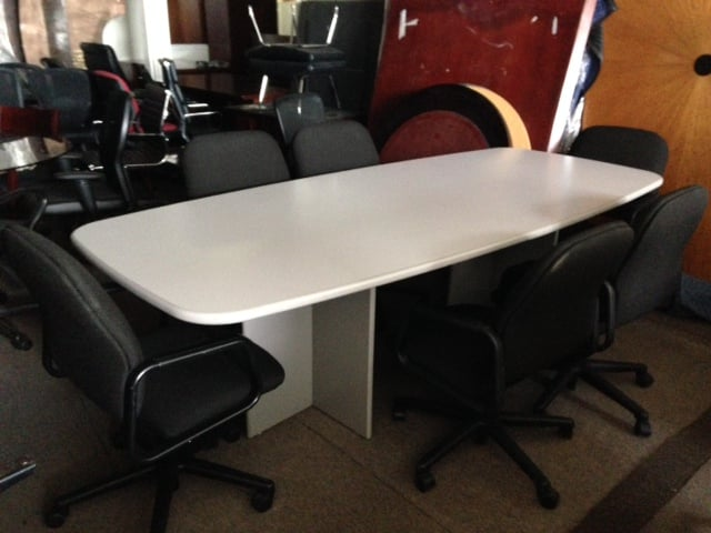 SPECIAL SALE 8ft X 4ft Grey Laminate Conference Table W