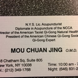 Mou chuanjing acupuncture 8 chatham sq chinatown new york ny photo of mou chuanjing new york ny united states dr mous reheart Images