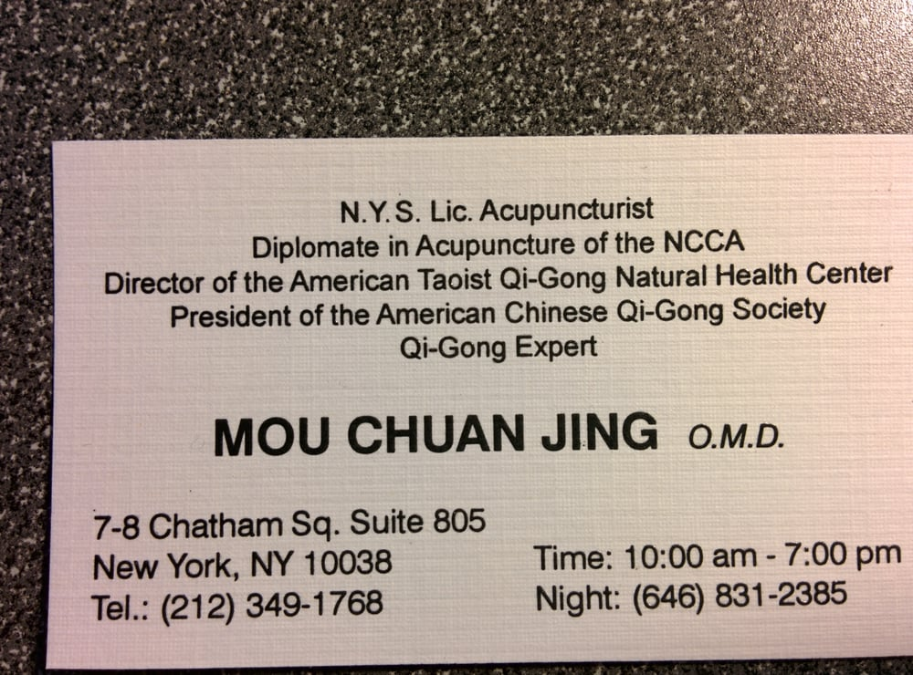 Dr mous business card yelp photo of mou chuanjing new york ny united states dr mous reheart Images