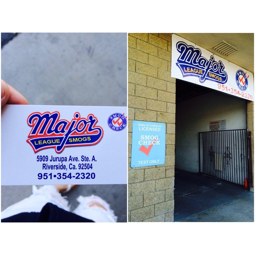 Major League Smogs Get Quote Smog Check Stations
