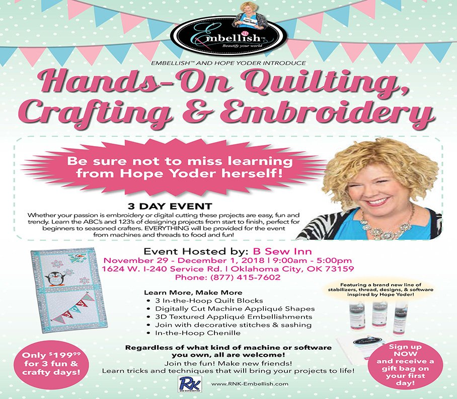 Quilting & Embroidery Workshop, Oklahoma City | Events - Yelp
