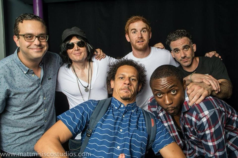 A photo from last month's show: Joe DeRosa, Bill Burr, Eric Andre, Andrew Santino, Josh Adam Meyers, Byron Bowers