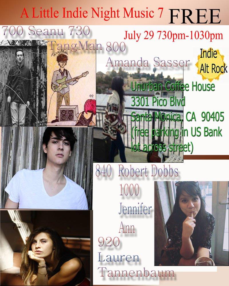 A Little Indie Night Music 7 at the UnUrban July 29, Santa