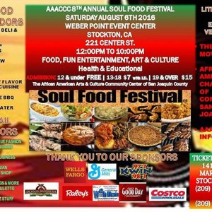 Aaaccc 8th Annual Soul Food Festival Stockton Events