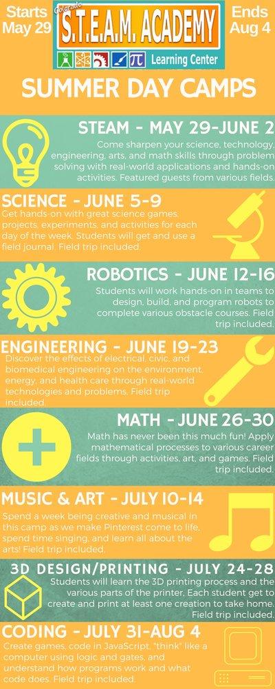 STEAM Summer Day Camps, Aurora | Events - Yelp