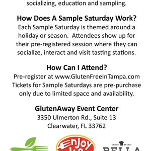 Gluten Free Sample Saturday - Tasting Event, Clearwater | Events ...