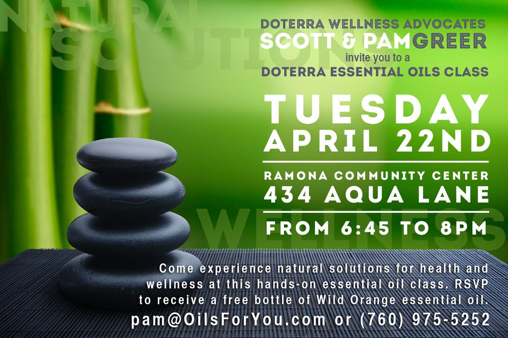 doTERRA Essential Oils Intro Class Ramona Events Yelp