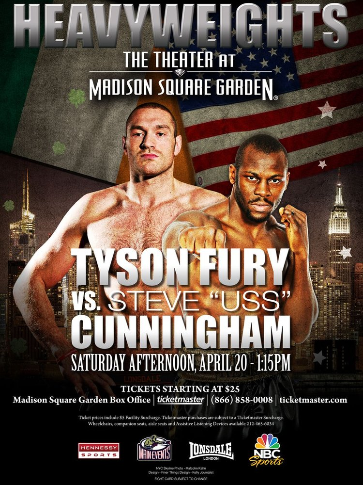 Madison Square Garden Heavyweights   Tyson Fury Vs Steve